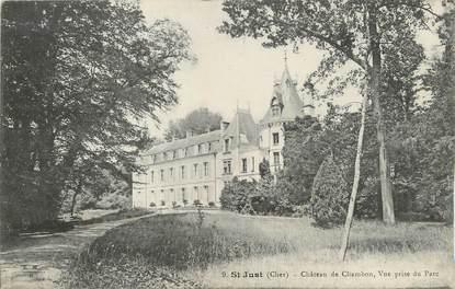 "/ CPA FRANCE 18 ""Saint Just, château de Chambon """