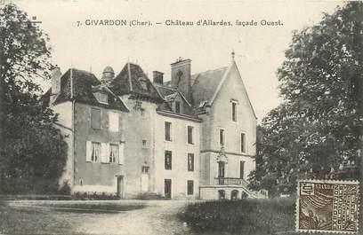 "/ CPA FRANCE 18 ""Givardon, château d'Allardes"""