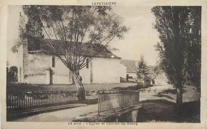 """/ CPA FRANCE 24 """"Laveyssière, le pont, l'église et l'entrée du bourg"""""""