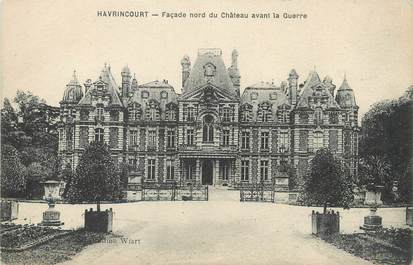 """/ CPA FRANCE 62 """"Havrincourt, façade nord du château avant la guerre"""""""