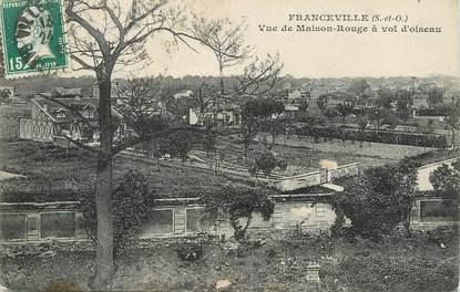 """/ CPA FRANCE 93 """"le Raincy, Franceville, vue de maison rouge à vol d'oiseau"""""""