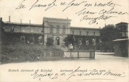 "/ CPA FRANCE 54 ""Auricourt Allemand, la gare"""