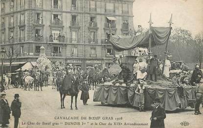 """/ CPA FRANCE 75019 """"Paris, cavalcade du boeuf gras 1908"""""""