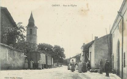 """/ CPA FRANCE 21 """"Crépey, rue de l'église"""""""