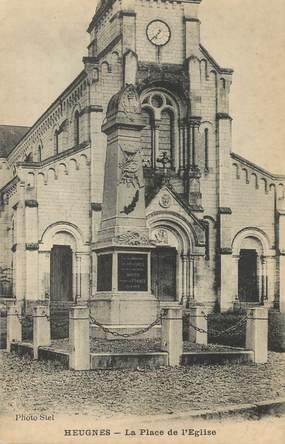 """/ CPA FRANCE 36 """"Heugnes, la place de l'église """""""