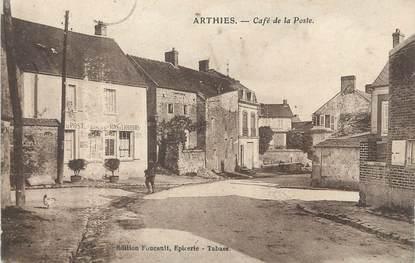 """/ CPA FRANCE 95 """"Arthies, café de la poste"""""""