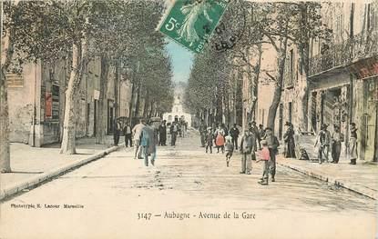 "CPA FRANCE 13 ""Aubagne, avenue de la gare"""