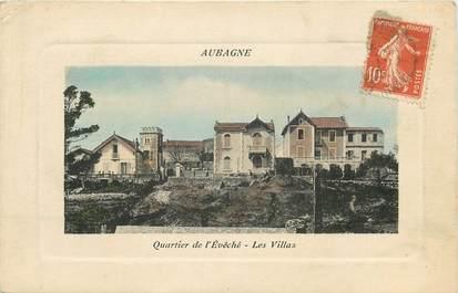 """CPA FRANCE 13 """"Aubagne, quartier de l'Evêché, les villas"""""""
