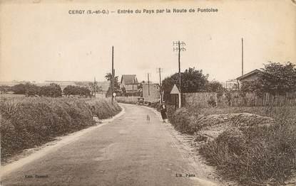 """/ CPA FRANCE 95 """"Cergy Pontoise, entrée du pays par la route de Pontoise"""""""
