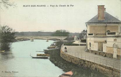"CPA FRANCE 77 ""Mary sur Marne"""