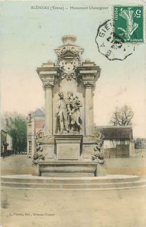 """CPA FRANCE 89 """"Bléneau, monument Chataignier"""""""