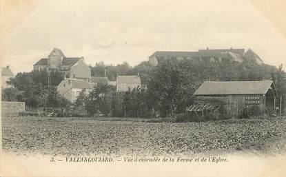 """/ CPA FRANCE 95 """"Vallangoujard, vue d'ensemble de la ferme et de l'église"""""""