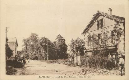 """/ CPA FRANCE 95 """"Le Thillay, hôtel du Pont Chinois, rue de Paris"""""""