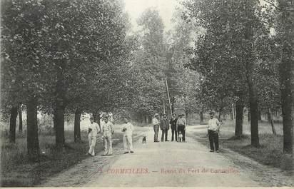 """/ CPA FRANCE 95 """"Cormeilles, route du fort de Cormeilles"""""""