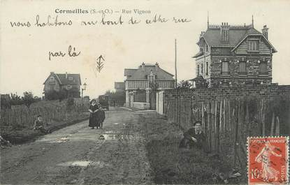 "/ CPA FRANCE 95 ""Cormeilles, rue Vignon"""