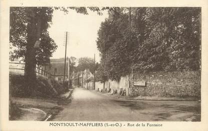 """/ CPA FRANCE 95 """"Montsoult Maffliers, rue de la Fontaine"""""""