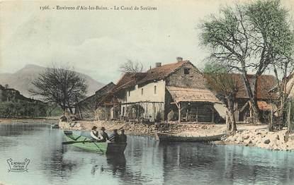 """CPA FRANCE 73 """"Env. d'Aix les Bains, le Canal de Savières"""""""