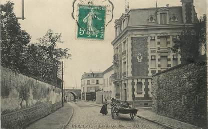 """/ CPA FRANCE 95 """"Herblay, la grande rue"""""""