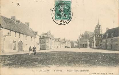 """/ CPA FRANCE 14 """"Falaise, Guibray, place Reine Mathilde"""""""