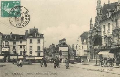 """/ CPA FRANCE 14 """"Falaise, place du marché Saint Gervais"""""""