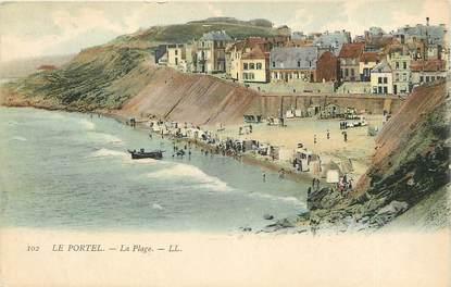 """CPA FRANCE 62 """"Le Portel, la plage, Ed. L.L."""""""