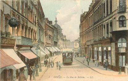 "CPA FRANCE 59 ""Douai, la rue de Bellain"""