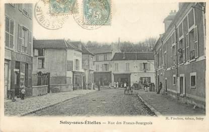 "/ CPA FRANCE 91 ""Soisy sous Etiolles, rue des Francs Bourgeois"""