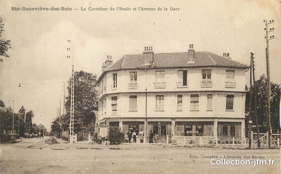 CPA FRANCE 91 Sainte Geneviève des Bois, le carrefour  ~ Horaire Carrefour Sainte Genevieve Des Bois