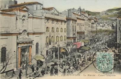 """CPA FRANCE 83 """"Toulon, le Marché, cours Lafayette"""""""