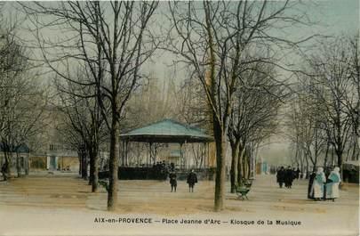 """CPA FRANCE 13 """"Aix en provence, place Jeanne d'Arc, le Kiosque"""""""