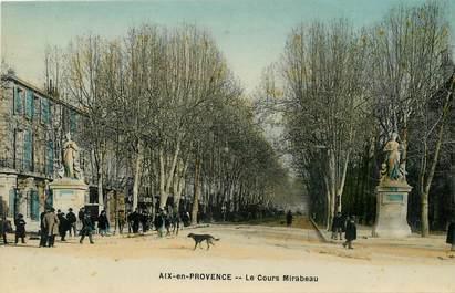 """CPA FRANCE 13 """"Aix en provence, le cours Mirabeau"""""""