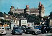 "60 Oise / CPSM FRANCE 60 ""Pierrefonds, la place du château"" / AUTOMOBILE"