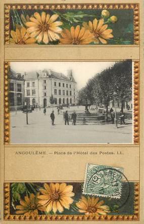 """CPA FRANCE 16 """"Angoulême, Place de l'Hotel des Postes"""""""