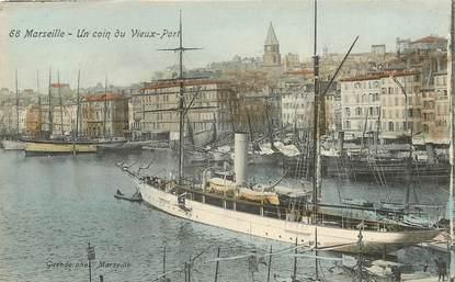 """CPA FRANCE 13 """"Marseille, un coin du vieux port"""" / BATEAU"""