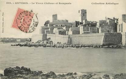 """/ CPA FRANCE 06 """"Antibes, le vieux château et remparts"""""""