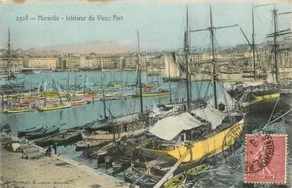 """CPA FRANCE 13 """"Marseille, intérieur du vieux port"""""""
