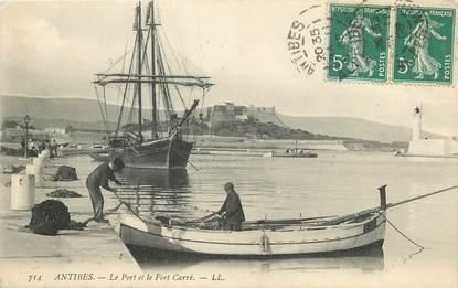 """/ CPA FRANCE 06 """"Antibes, le port et le fort Carré"""""""