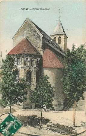 "CPA FRANCE 58 ""Cosne, Eglise Saint Agnan"""