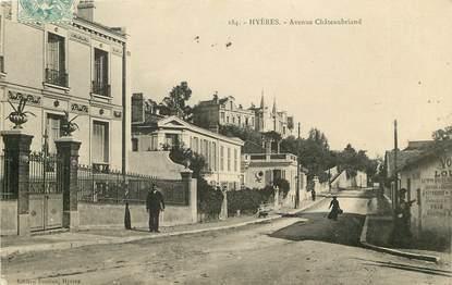 "CPA FRANCE 83 ""Hyères, avenue Châteaubriand"""