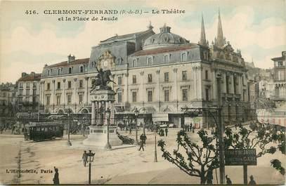 """CPA FRANCE 63 """"Clermont Ferrand, le théatre et la place de jaude"""""""