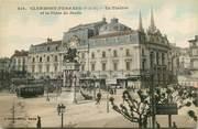 """63 Puy De DÔme CPA FRANCE 63 """"Clermont Ferrand, le théatre et la place de jaude"""""""