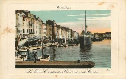 """CPA FRANCE 83 """"Toulon, le quai Cronstadt"""""""