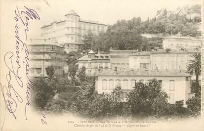 """CPA FRANCE 83 """"Hyères, les villas et Hotel Continental"""""""