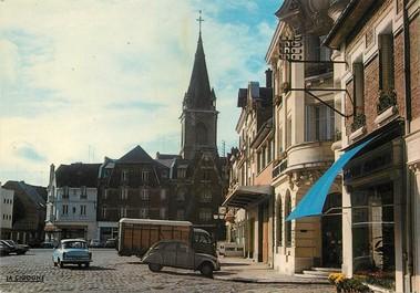 """/ CPSM FRANCE 02 """"Chauny, place de l'hôtel de ville"""""""