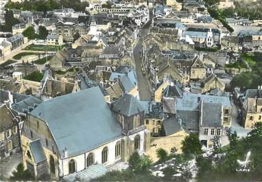 """/ CPSM FRANCE 02 """"Guise, l'église et la rue Camille Desmoulins"""""""