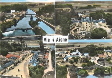 "/ CPSM FRANCE 02 ""Vic sur Aisne """