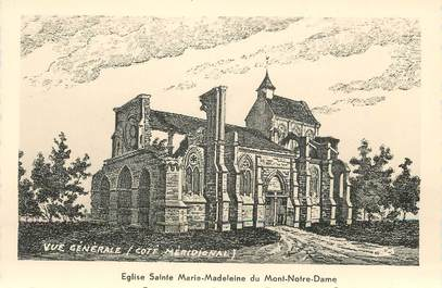 """/ CPSM FRANCE 02 """"Vailly sur Aisne, église Sainte Marie Madeleine du Mont Notre Dame, vue générale"""""""