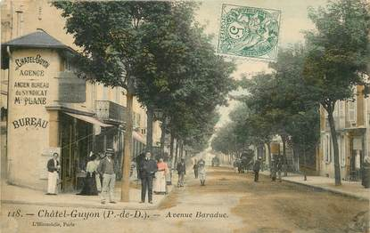"CPA FRANCE 63 ""Chatelguyon, avenue Baraduc"""