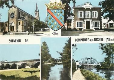 """/ CPSM FRANCE 03 """"Souvenir de Dompierre sur Besbre"""""""