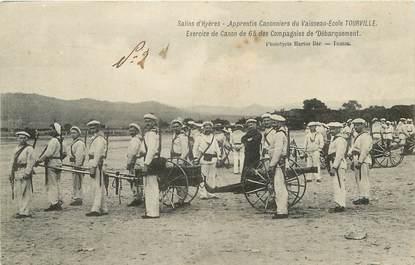 """CPA FRANCE 83 """"Hyères, apprentis canonniers du Vaisseau Ecole Tourville"""""""